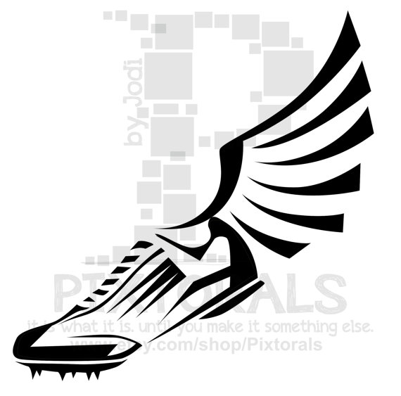 Running Shoes With Wings Clipart Free Download Best Running Shoes