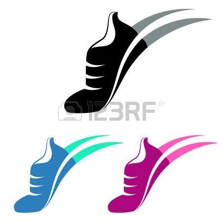 450x450 Vector Speeding Running Shoe Symbol, Icon Royalty Free Cliparts