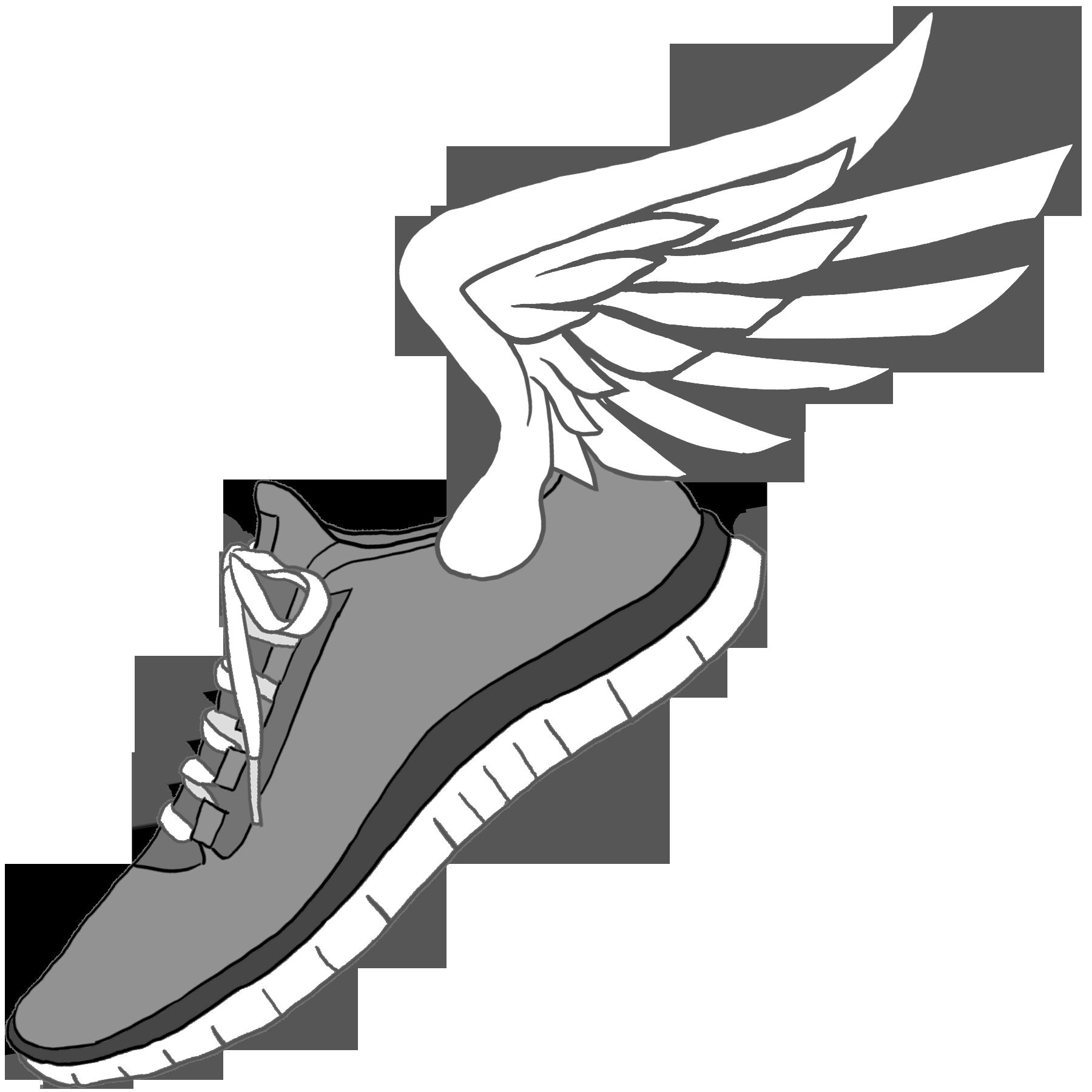 1800x1800 Wings Clipart Running Shoe