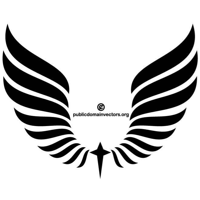 660x660 Black Wings Clipart