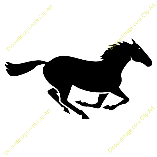 500x500 Galloping Horse Silhouette Clip Art