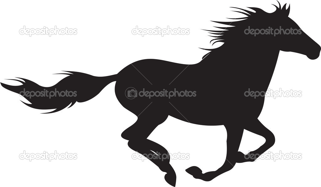 1024x598 Running Horse Silhouette Clipart