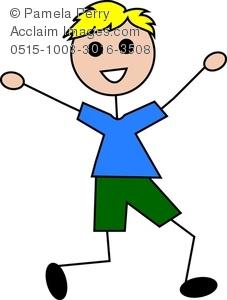 227x300 Art Illustration Of A Cartoon Little Boy Running
