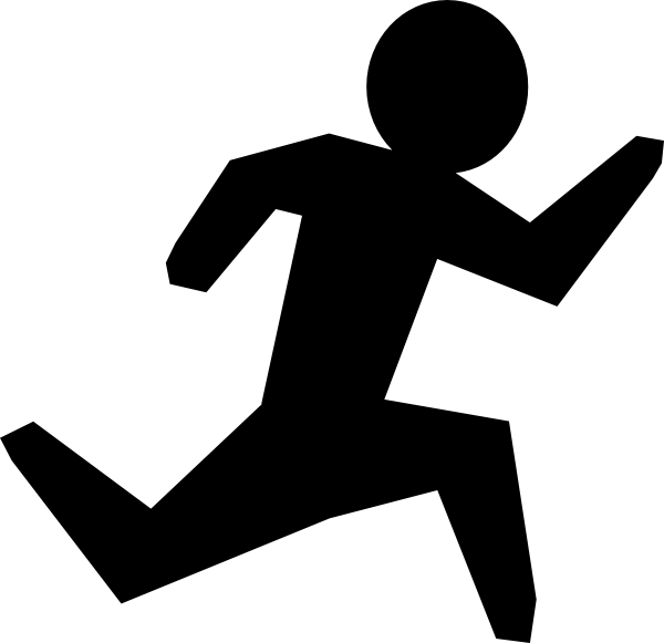 600x581 Run Black Man Clip Art