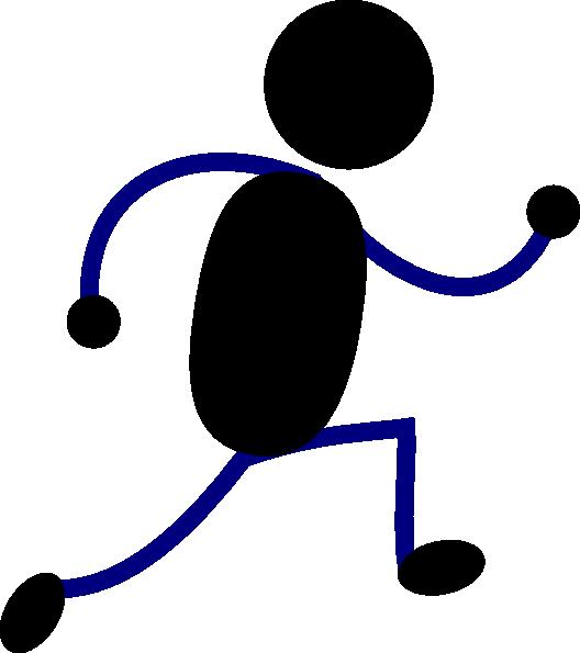 528x595 Running Figure Black Clip Art