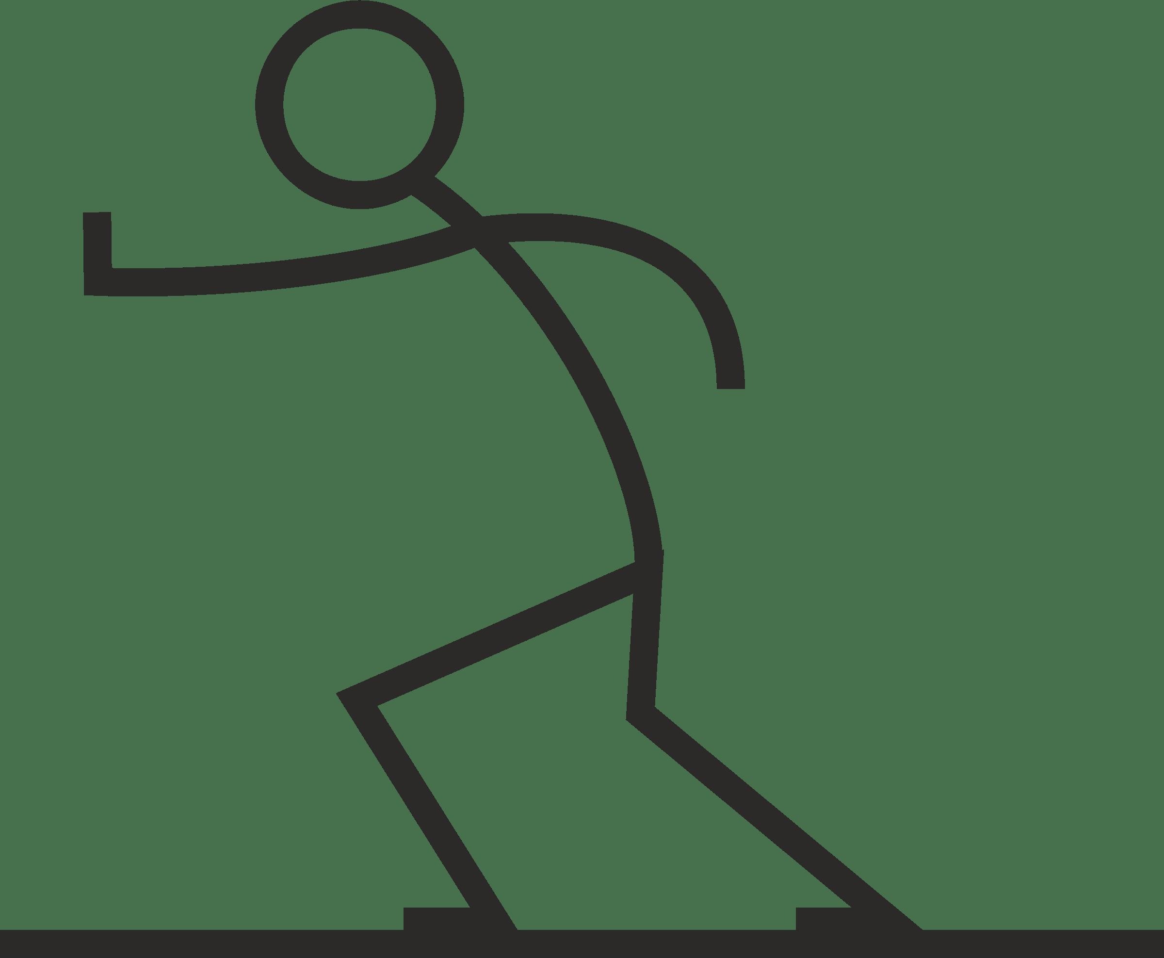 2400x1975 Stick Figure Running Transparent Png