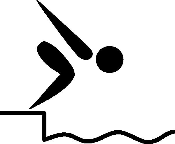 600x496 Stick Figure Swimming Clipart