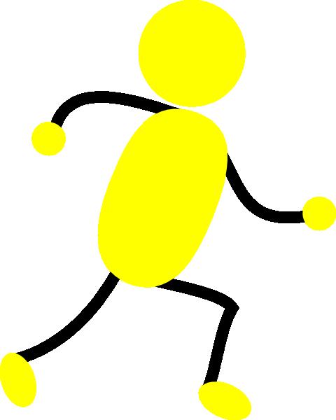 480x600 Yellow Man Running Clip Art