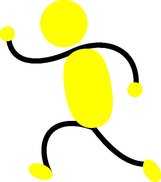 528x596 Yellow Man Running Left Clip Art