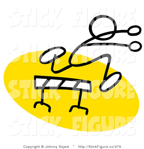 600x620 Cliprt Of Stick Figure Runningnd Leaping Over Hurdle On