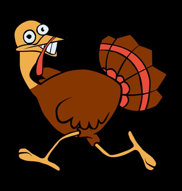 600x630 Running Turkey Clipart