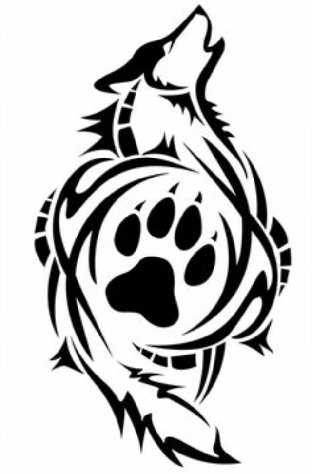 Line Art Wolf Tattoo: Free Download On ClipArtMag
