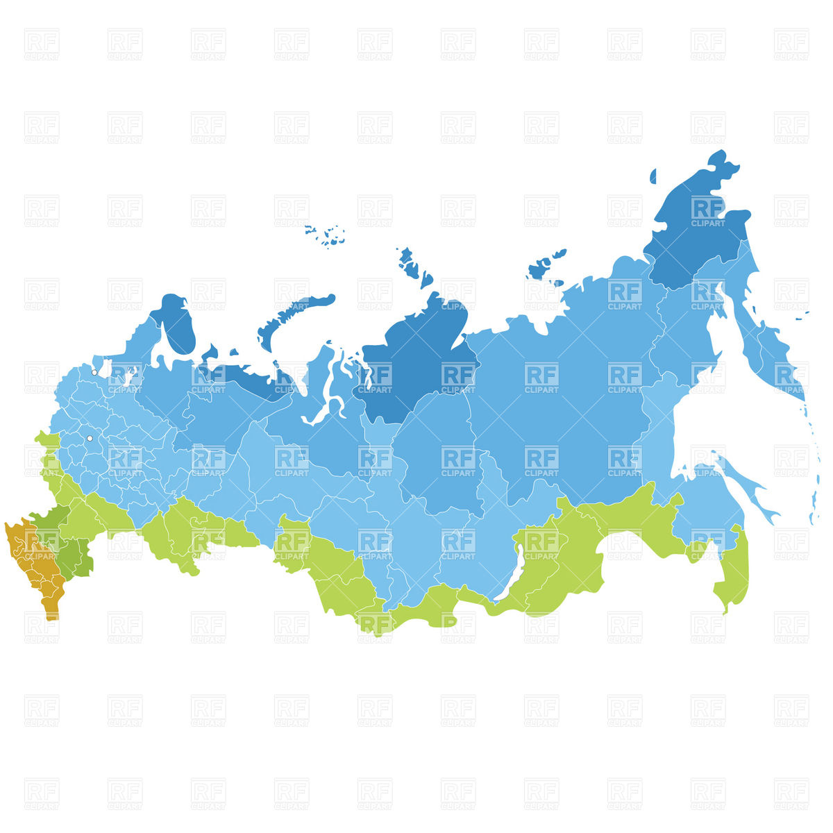 1200x1200 Russia Administrative Division Map Royalty Free Vector Clip Art