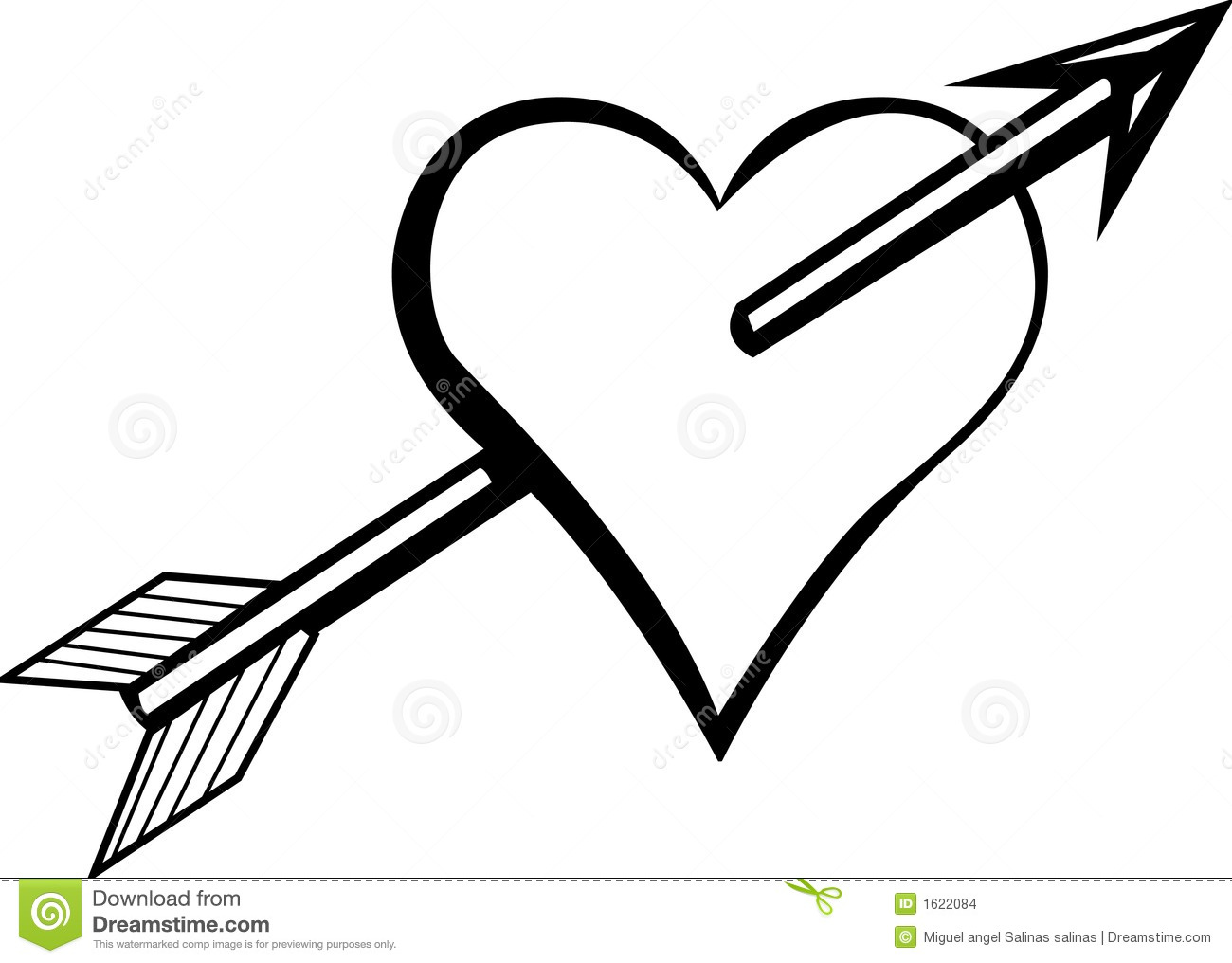 1300x1016 Rustic Arrows And Heart Clipart