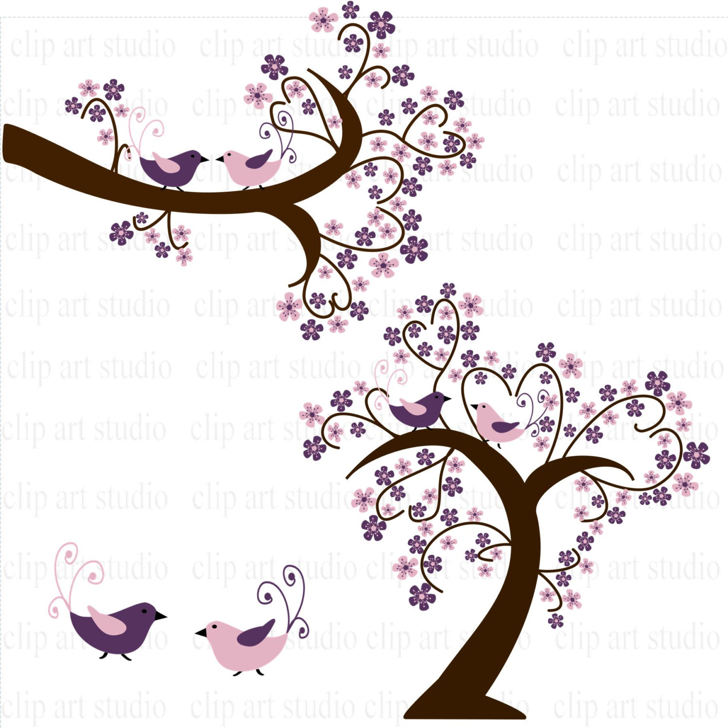 1500x1500 Wedding Clipart Branches