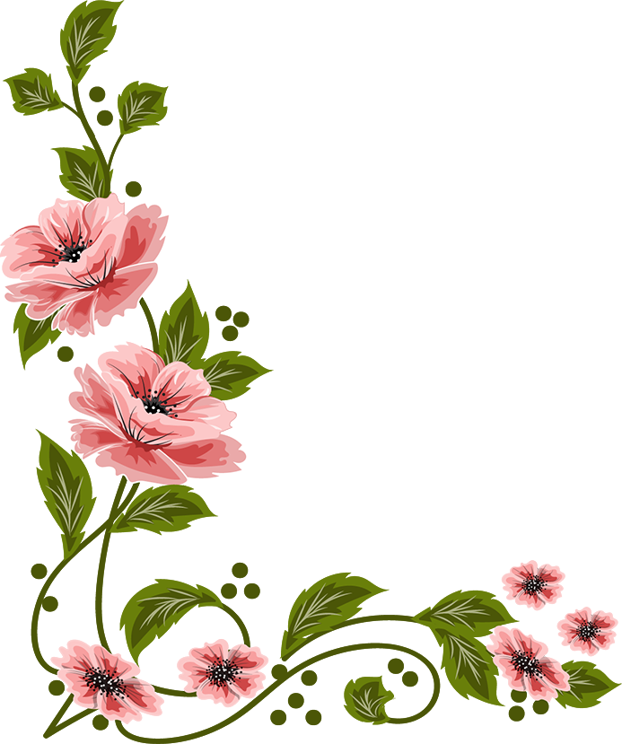 693x829 Flowers, Painting Illoustrator, Png File Frames And Boarders