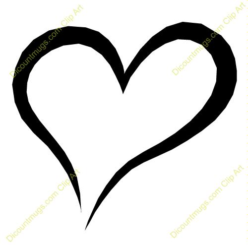 500x494 Heart Outline Clip Art