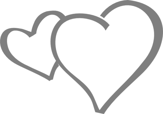 570x399 Heart Clipart Black And White Heart Clip Art Black And White