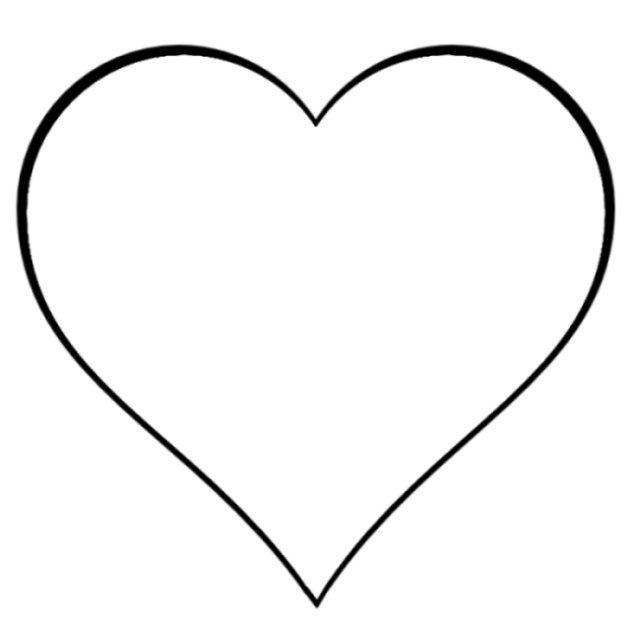 634x619 Heart Outline Clipart