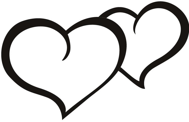 800x519 Outline Heart Clipart