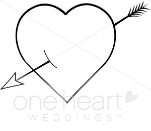 300x259 Rustic Clipart Heart Arrow