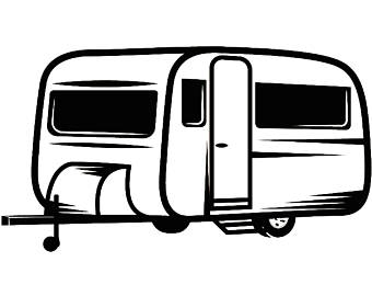 Camping camper. Rv clipart free download