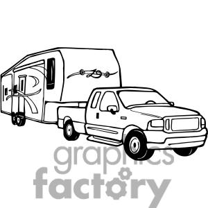 300x300 Rv Camping Cartoon Clipart