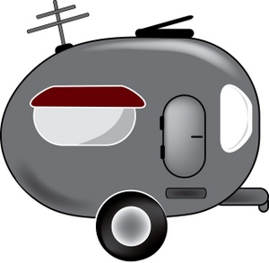300x293 Truck And Camper Clipart