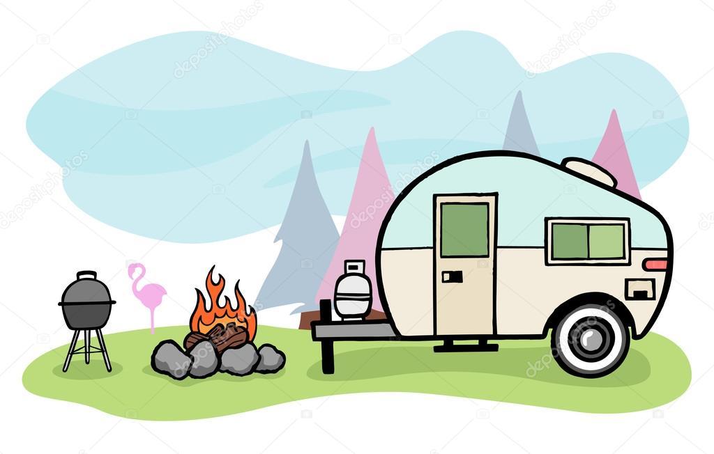1024x652 Camper Stock Vectors, Royalty Free Camper Illustrations