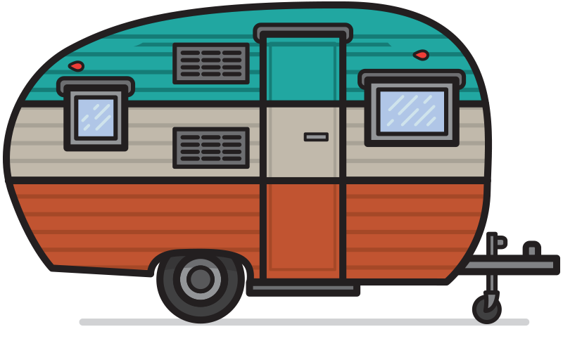 800x502 Camper Clipart