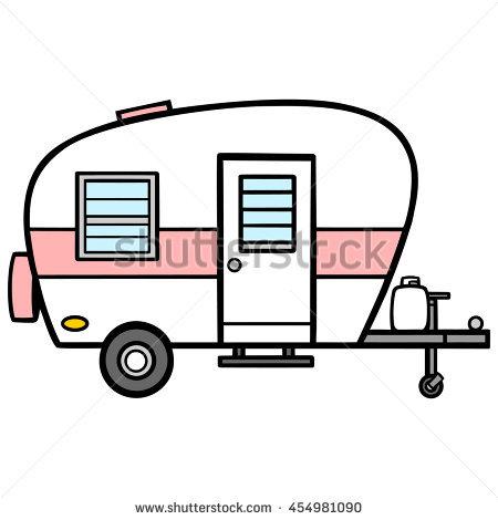 450x470 Camper Clipart Cartoon