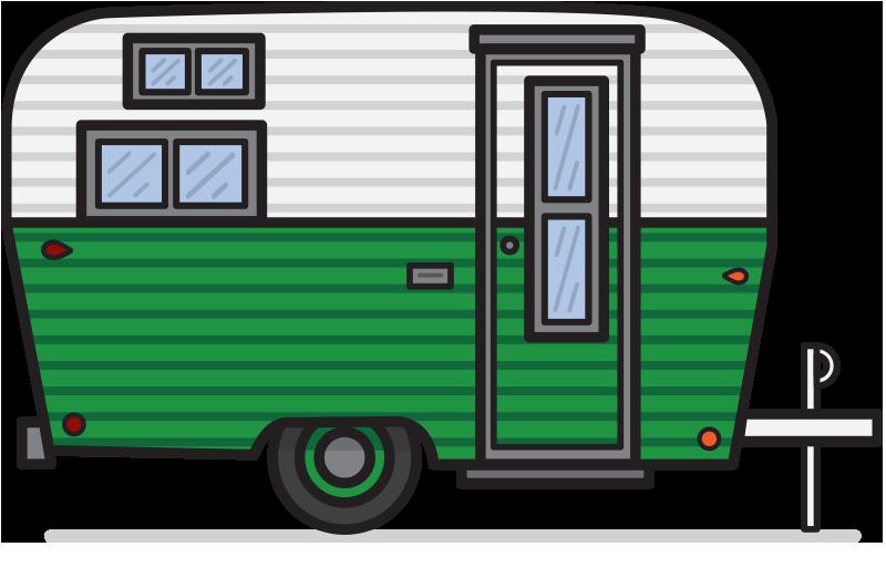 800x531 Camper Clipart Vector