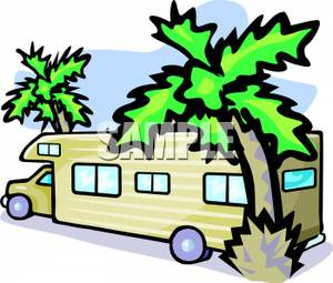 300x255 Picture An Rv Parked Between Palm Trees