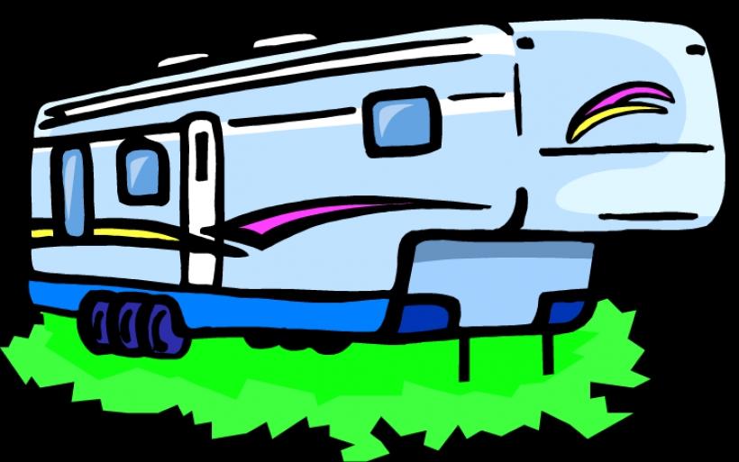 820x513 Rv Clip Art Clipartsco Graphics 5th Wheel Camper Clipart Top 305th
