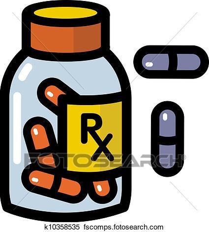 425x470 Stock Illustration Of Illustration Of Prescription Drugs K10358535