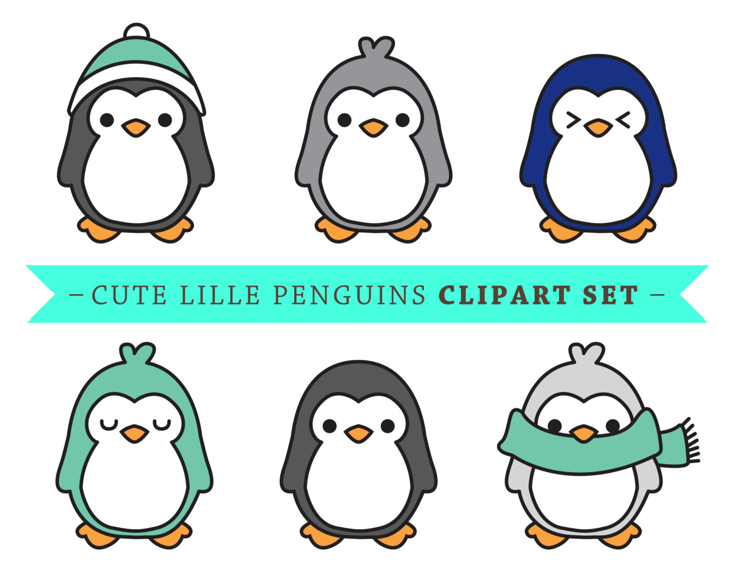 1500x1193 Premium Vector Penguin Clip Art Cute By Looklookprettypaper