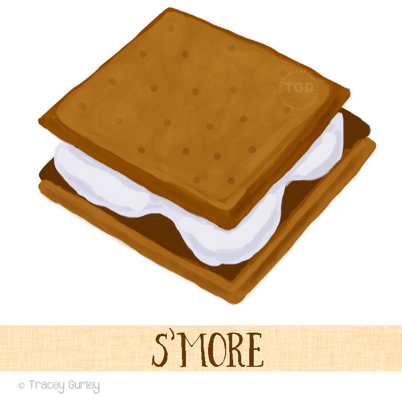 800x800 S'More Clip Art Original Hand Painted Clip Art