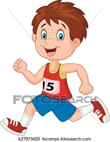 367x470 Clipart Of Cartoon Boy Follow The Race K27973420