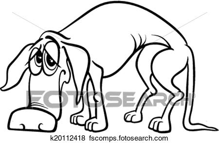 450x295 Clip Art Of Sad Homeless Dog Coloring Page K20112418