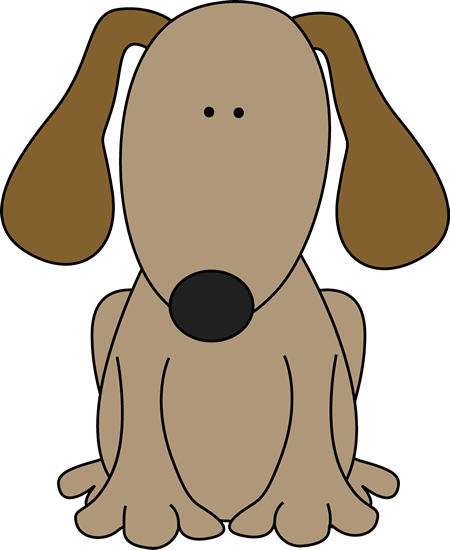 450x550 Free Cute Dog Clipart Image