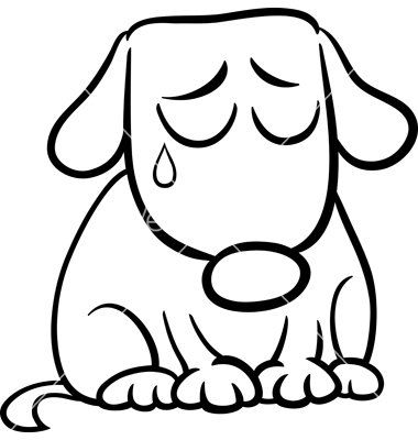 380x400 Sad Dog Clipart