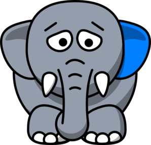 298x285 Sad Elephant Clip Art