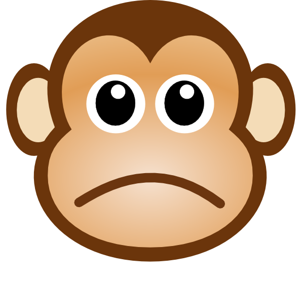 600x561 Sad Monkey Clip Art