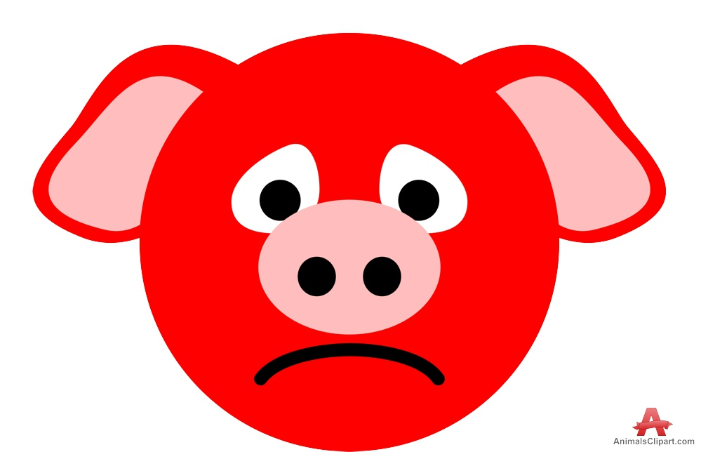999x644 Sad Pig Face Clipart Free Clipart Design Download