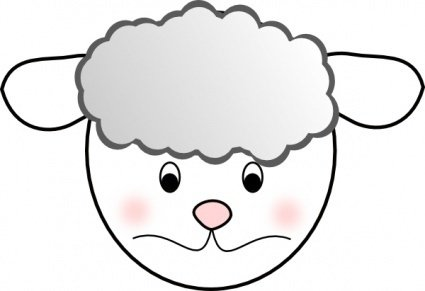 425x291 Sad Sheep Clip Art Clip Arts, Clip Art