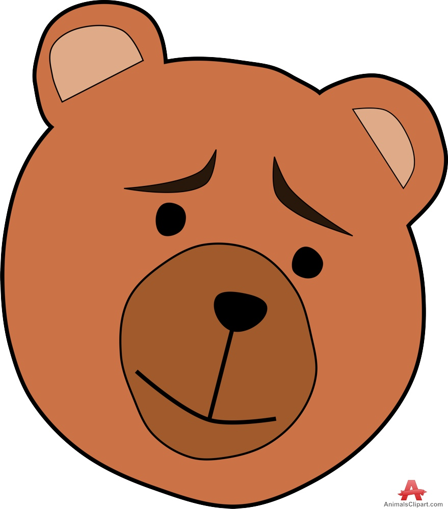 879x999 Sad Teddy Bear Face Free Clipart Design Download