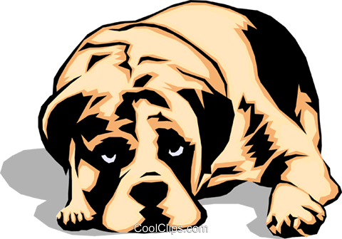 480x336 Sad Looking Dog Royalty Free Vector Clip Art Illustration