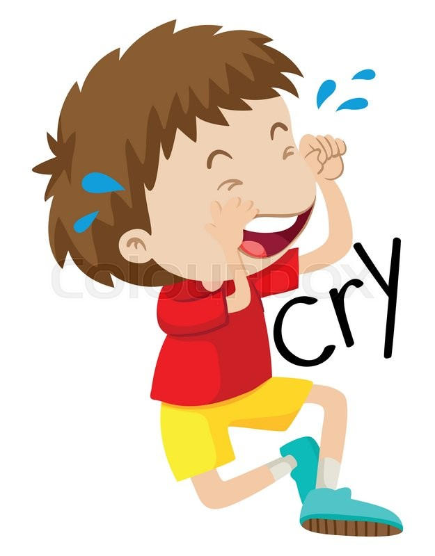 625x800 Sad Boy Crying His Tears Out Illustration Stock Vector Colourbox