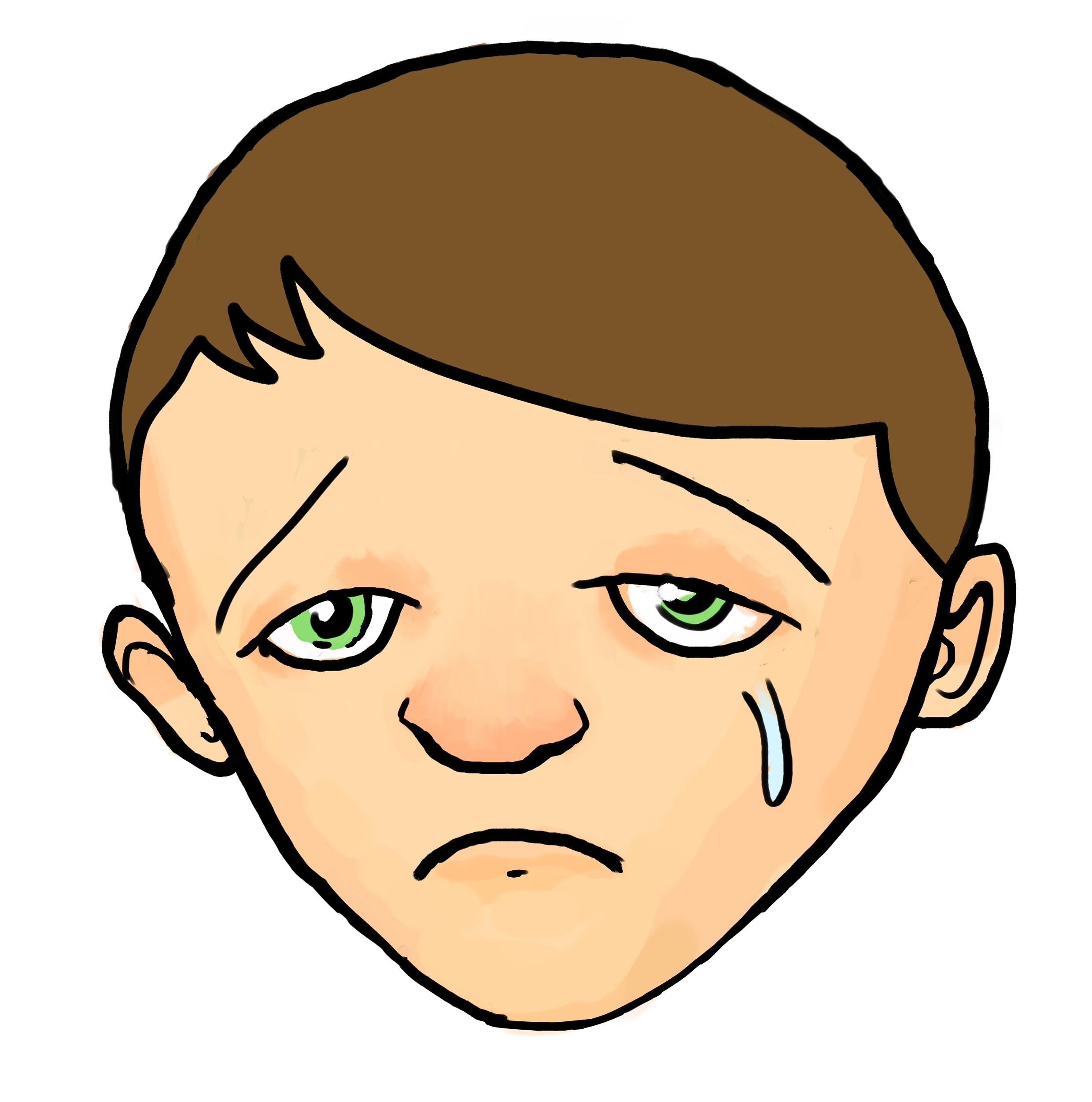 Sad emoji kid. Boy clipart free download