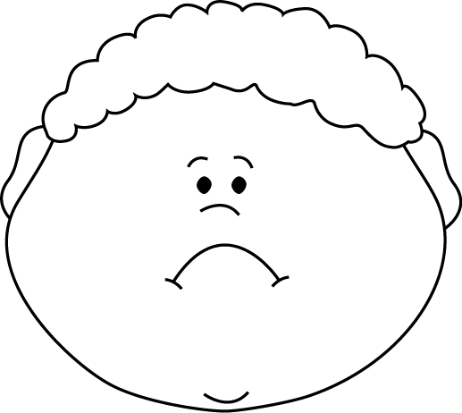 517x462 Sad Boy Black And White Clipart